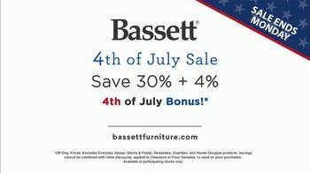 Bassett 4th of July Sale TV Spot, 'BenchMade: Save 30% + 4%' - Thumbnail 8