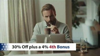 Bassett 4th of July Sale TV Spot, 'BenchMade: Save 30% + 4%' - Thumbnail 3