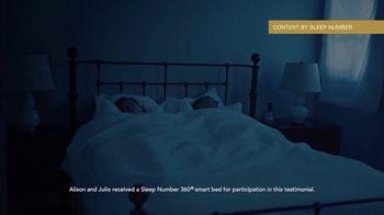 Sleep Number TV Spot, 'People Who Depend on Sleep: Alison and Julio' - Thumbnail 3
