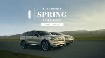 Lincoln Motor Company Spring Sales Event TV Spot, 'Desire to Be Outside' [T2] - Thumbnail 8