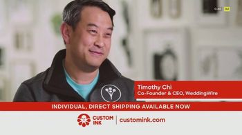 CustomInk TV Spot, 'Timothy: Additional Items'