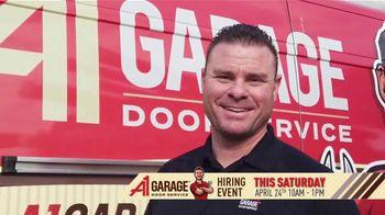 A1 Garage Door Service Hiring Event TV Spot, 'Just Like Home' - Thumbnail 1