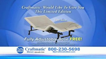 Craftmatic Adjustable Beds TV Spot, 'Free Fully Adjustable Base' - Thumbnail 3