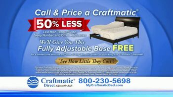 Craftmatic Adjustable Beds TV Spot, 'Free Fully Adjustable Base'