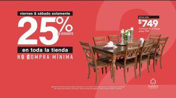 Ashley HomeStore TV Spot, 'Dos días más grandes para ahorrar: 25% de descuento' [Spanish] - Thumbnail 4