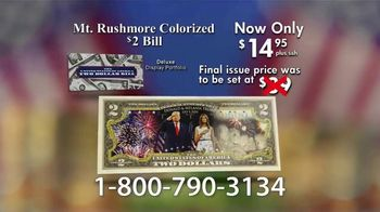 National Collector's Mint Mt. Rushmore $2 Bill TV Spot, 'Commemorative' - Thumbnail 9