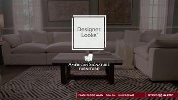 American Signature Furniture TV Spot, 'Designer Looks: $599 Hazel Bed' - Thumbnail 1
