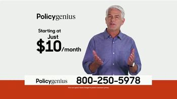 PolicyGenius TV Spot, 'Life Insurance Policies Starting At $10 a Month' - Thumbnail 1