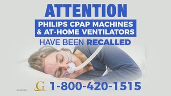 Goldwater Law Firm TV Spot, 'Philips CPAP Machines and At-Home Ventilators'