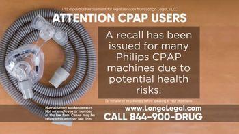 Longo Legal TV Spot, 'CPAP Users'