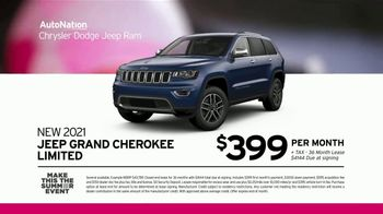 AutoNation Chrysler Dodge Jeep Ram Make This the Summer Event TV Spot, 'Jeeps for $399 a Month' - Thumbnail 5