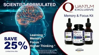 Quantum Nutrition Labs TV Spot, 'Save 25% on the Memory and Focus Kit' - Thumbnail 7
