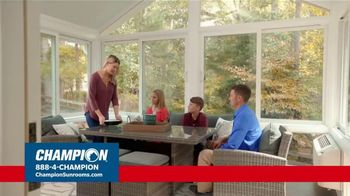 Champion Windows TV Spot, 'Sunroom: Enjoy Even More Space: 25%' - Thumbnail 1