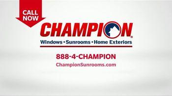 Champion Windows TV Spot, 'Sunroom: Enjoy Even More Space: 25%' - Thumbnail 8