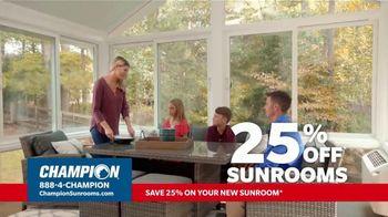 Champion Windows TV Spot, 'Sunroom: Enjoy Even More Space: 25%' - Thumbnail 2