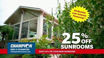 Champion Windows TV Spot, 'Sunroom: Enjoy Even More Space: 25%' - Thumbnail 4