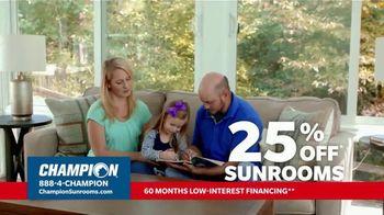 Champion Windows TV Spot, 'Sunroom: Enjoy Even More Space: 25%' - Thumbnail 5