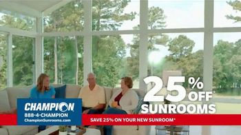 Champion Windows TV Spot, 'Sunroom: Enjoy Even More Space: 25%' - Thumbnail 7