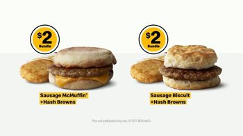 McDonald's TV Spot, 'Breakfast Smells Too Good to Wait: Sausage McMuffin and Sausage Buscuit' - Thumbnail 5