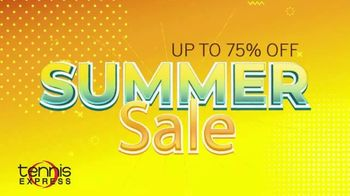 Tennis Express Summer Sale TV Spot, 'Up to 75% Off'