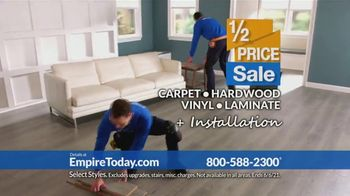 Empire Today Half Price Sale TV Spot, 'Right From Home' - Thumbnail 8