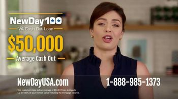 NewDay USA 100 VA Cash Out Loan TV Spot, 'Borrow Up to 100% of Your Home's Value' - 177 commercial airings
