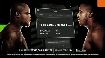 DraftKings TV Spot, 'Play Free for $10,000 in Prizes: UFC 265' - 29 commercial airings