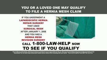 Kresch & Lee TV Spot, 'Hernia Mesh Devices' - Thumbnail 3