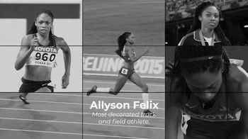 Centers for Disease Control and Prevention TV Spot, 'Hear Her: Allyson Felix: Not Alone' - Thumbnail 1