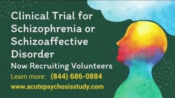 Acute Psychosis Study TV Spot, 'Recruiting Volunteers' - Thumbnail 7