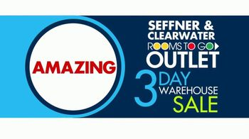 Rooms to Go 3 Day Warehouse Sale TV Spot, 'Seffner Warehouse: Storewide Markdowns' - Thumbnail 3