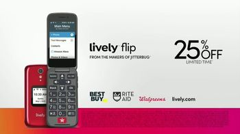 GreatCall Lively Flip TV Spot, 'Touch of a Button: 25% Off' - Thumbnail 9