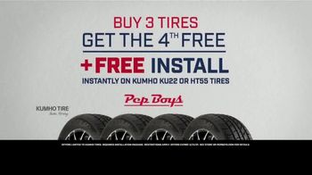 PepBoys TV Spot, 'New Look, Same Promise: Buy Three Tires, Get the Fourth Free'