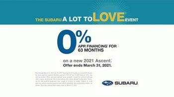 Subaru A Lot to Love Event TV Spot, 'Features' [T2] - Thumbnail 6