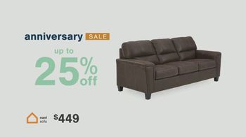 Ashley HomeStore Anniversary Sale TV Spot, 'Save 25%, Doorbusters and Financing'