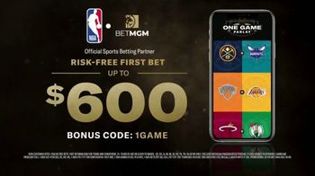 BetMGM One Game Parlay TV Spot, 'One Game, Bigger Payouts: $600 Risk-Free First Bet' - Thumbnail 9
