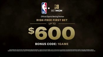 BetMGM One Game Parlay TV Spot, 'One Game, Bigger Payouts: $600 Risk-Free First Bet' - Thumbnail 8