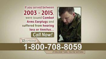 Guardian Legal Network TV Spot, 'Military Veterans: Earplugs' - Thumbnail 5