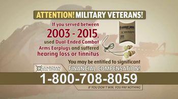 Guardian Legal Network TV Spot, 'Military Veterans: Earplugs' - Thumbnail 2