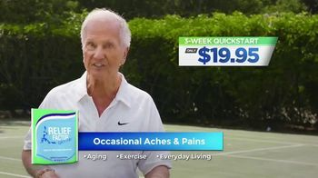 Relief Factor 3-Week Quickstart TV Spot, '100% Drug-Free: Monica' Featuring Pat Boone