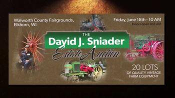 Mecum Gone Farmin' David J. Sniader Estate Auction TV Spot, '20 Lots of Quality Equipment'