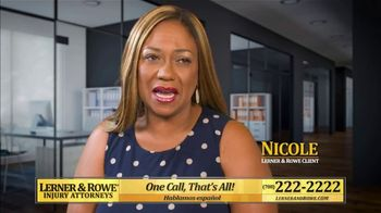 Lerner and Rowe Injury Attorneys TV Spot, 'Nicole' - Thumbnail 3