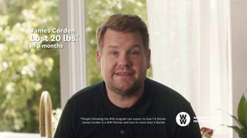 WW TV Spot, 'Pizza: 60% Off + Free Cookbook' Featuring James Corden