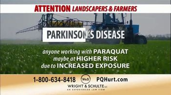 Wright & Schulte, LLC TV Spot, 'Landscapers & Farmers: Herbicide Related Parkinson's Diagnoses'
