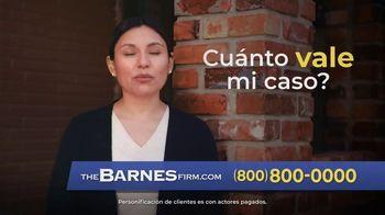 The Barnes Firm TV Spot, 'El valor del caso' [Spanish]