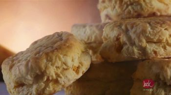 Jack in the Box Cheddar Biscuits Breakfast Sandwiches TV Spot, 'Better With Cheddar' - Thumbnail 1