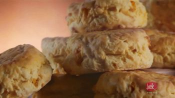 Jack in the Box Cheddar Biscuits Breakfast Sandwiches TV Spot, 'Better With Cheddar' - Thumbnail 2