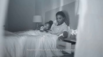 UBRELVY TV Spot, 'Anytime, Anywhere Migraine Medicine' Featuring Serena Williams - Thumbnail 3