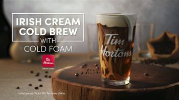 Tim Hortons Irish Cream Cold Brew TV Spot, 'Cold Foam Perfection' - Thumbnail 8