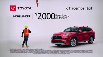 Toyota TV Spot, 'Trabajador de construcción: Highlander' [Spanish] [T2] - Thumbnail 3